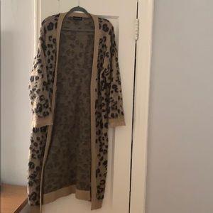 Women's cardigan | leopard | size small